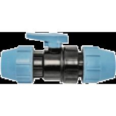 1070050000001 Unidelta кран кульовий для ПЕ труб Ø50x50 PP-B (УФ захист)