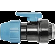 """1071020002001 Unidelta кран кульовий для ПЕ труб Ø20x1/2"""" ВР PP-B (УФ захист)"""