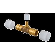 1020524 тройник редукционный с кольцами PE-Xa Q&E