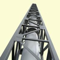 Опорная конструкция для дымохода квадратная PlusTerm